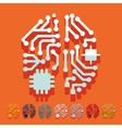 Flat design artificial intelligence vector image