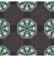 Seamless pattern with abstract elements damask til vector image vector image
