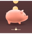 Piggy moneybox with golden coins vector image