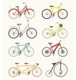 Set of retro bicycle vector image