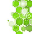 Abstract green background hexagon vector image