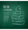 Apple on books vector image vector image