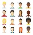 Avatar icons set cartoon style vector image