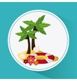 Summer design vacation concept Flat vector image