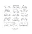 Flat transport icons vector image