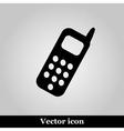 Smartphone icon on grey background vector image