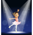 Ballerina Stage Performance vector image