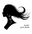 beautiful female silhouette vector image