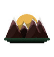 beautiful mountains landscape vector image