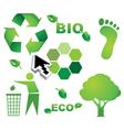 Bio eco icon symbols vector image