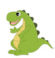 cute cartoon dinosaur isolated on white vector image