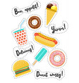 fast food vecor stickers vector image