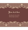 lace on brown background vector image