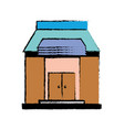 school education with roof and doors design vector image