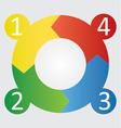 four step round diagram vector image