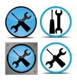 set of buttons indicating repairs vector image