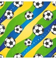 Seamless football pattern background vector image