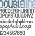 Double Line retro style geometric font light vector image
