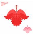 Hibiscus vector image vector image