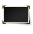 Figured edges photo frame with not fixed corner vector image vector image
