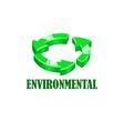 Environmentsl company logo vector image