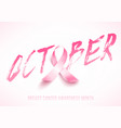 breast cancer card vector image