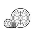 casino roulette with chips vector image