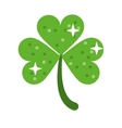 clover leafs saint patrick day ornament shiny vector image