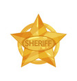 flat of sheriff s vintage vector image