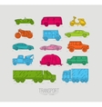 Flat transport icons color vector image
