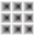 inward concave surround the square vector image