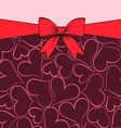 Greeting card for valentine vector image