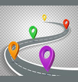 business roadmap 3d pointers on transparent vector image