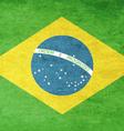 Grunge Flag Of Brazil vector image