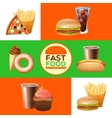 Fast food restaurant menu banners set vector image
