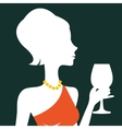 Beautiful elegant woman silhouette vector image vector image