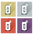 Concept of flat icons with long shadow mobile vector image