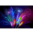 fireworks and rockets vector image vector image