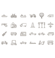 Transport black icons set vector image vector image