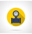 Pressure gauge flat round icon vector image