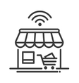 Online store single icon vector image