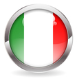 Gloss Button with Italy Flag vector image