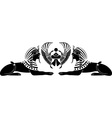 egyptian sphinx with scarab vector image