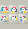 circle arrows sign infographic set vector image