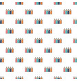 colored pencils pattern seamless vector image