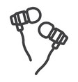 earphones line icon music and instrument vector image