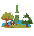 funny trees and logger vector image