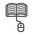online learning line icon education and internet vector image