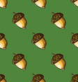 seamless pattern with hazelnuts-2 vector image