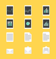 Set of productivity icons vector image